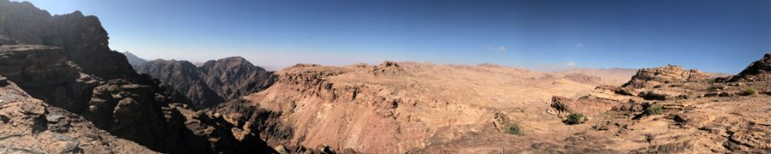view from trail to petra