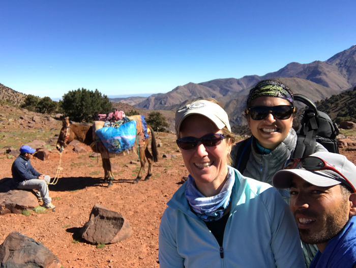 suman, me and omar on tizi summit