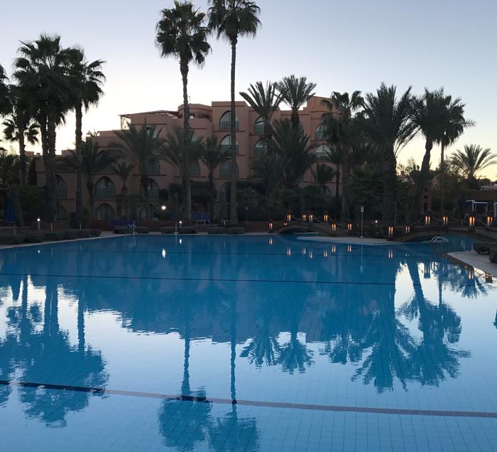 pool at Le Méridien N'Fis in Marrakesh
