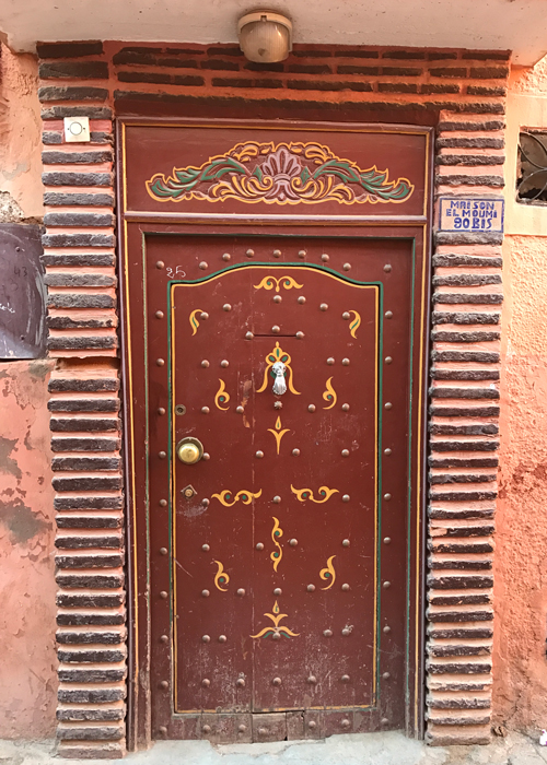 door in Marrakesh medina