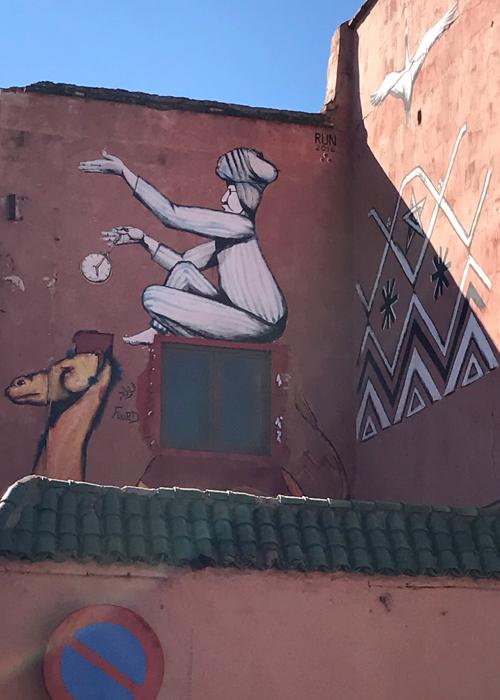 mural in Marrakesh medina