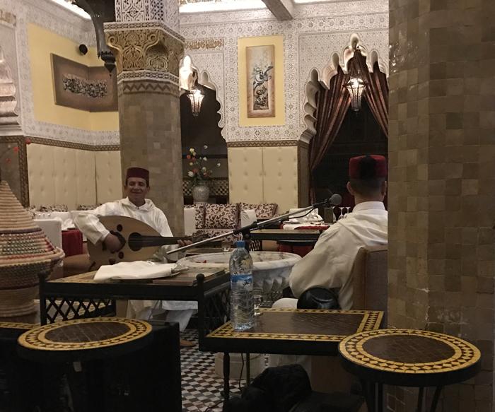 musicians at Ksar El Hamra in Marrakesh