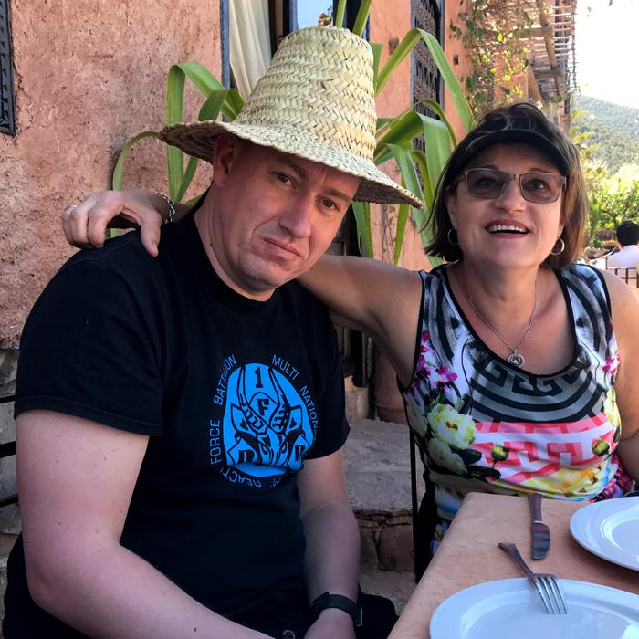 jimmi and margit at chez momo