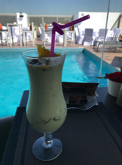 smoothie at movenpick casablanca hotel