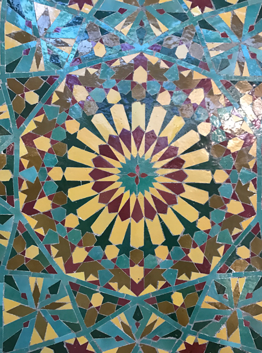 tile design at Hassan II Mosque