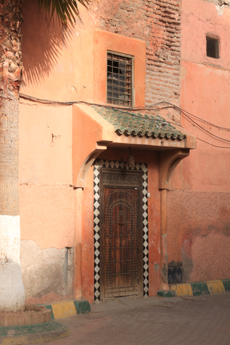 door in marrakesh medina