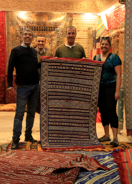 suman's rug in marrakesh medina