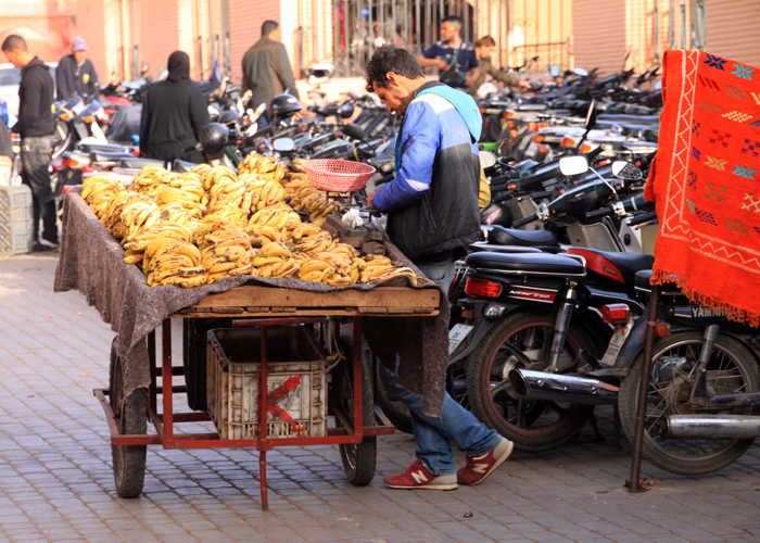 bananas in marrakesh medina