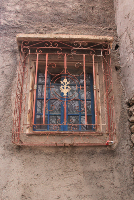 decorative window in the high atlas mountains