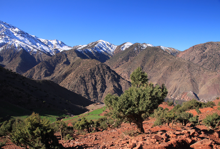 view from tizi oudite trail