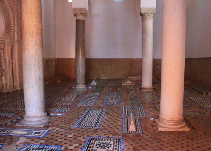 mausoleum at the saadian tombs