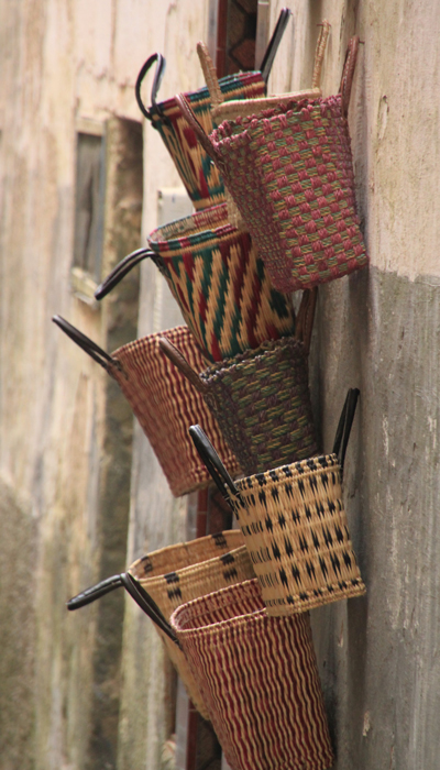 baskets in essaouira medina