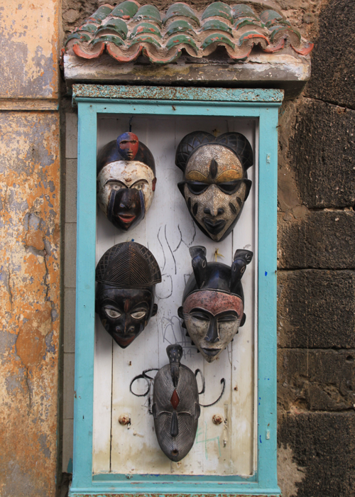 masks in essaouira medina