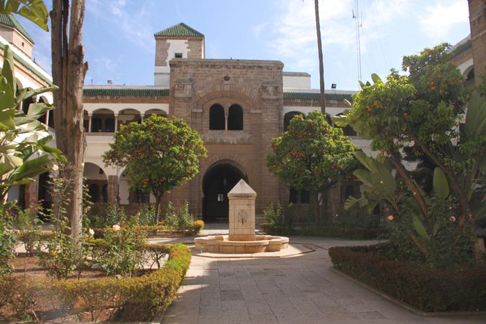 courtyard at mahkama