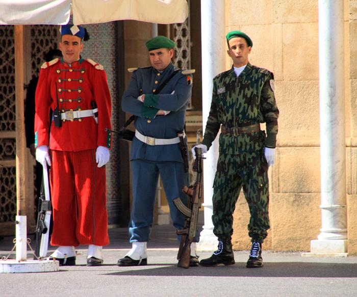 guards at Dar al-Makhzen