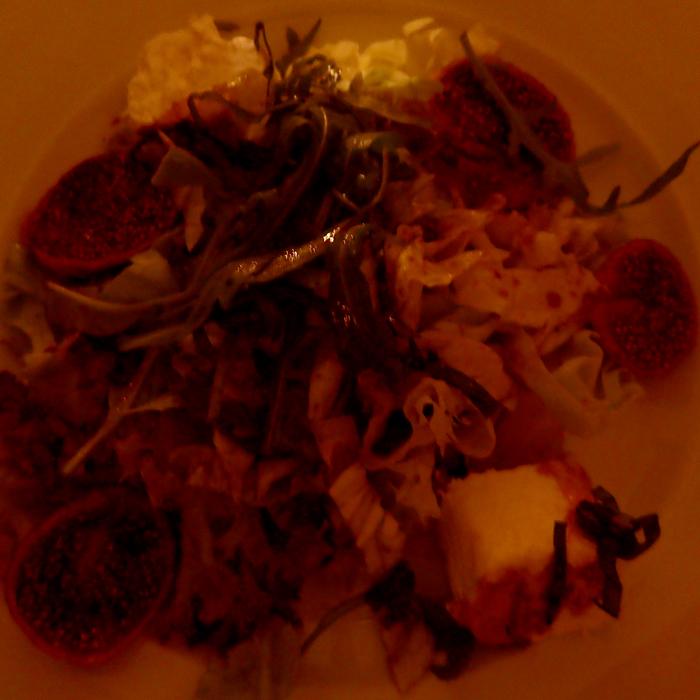 fig salad at rick's cafe in casablanca