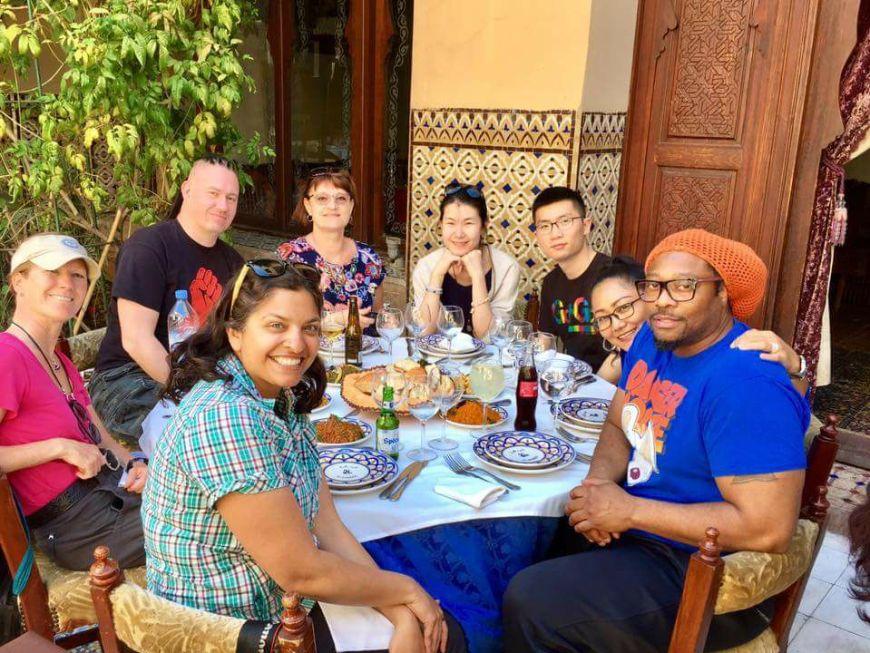 lunch at restaurant al baraka