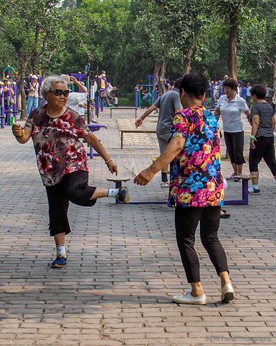 Hacky sack in Beijing