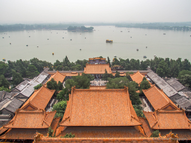 view from longevity hill in Beijing
