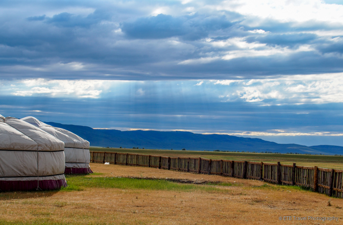 perimeter of urguu ger camp in kharkhorin mongolia