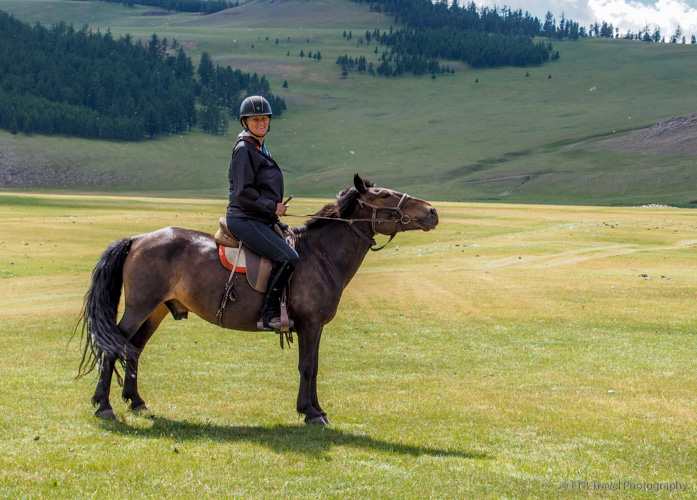 Page on her mongolian horse