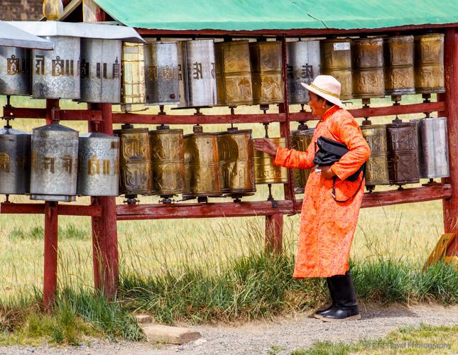 prayer wheels at Erdene Zuu Khiid