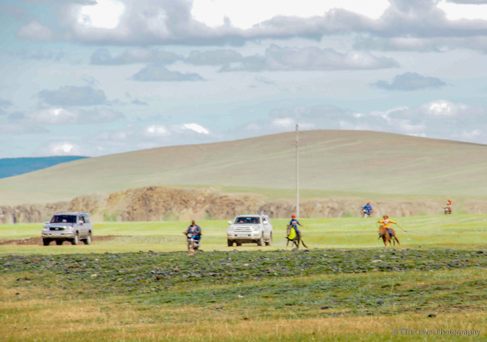 first riders coming in at Naadam horse race
