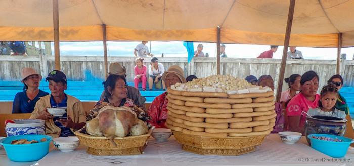 food for display at naadam
