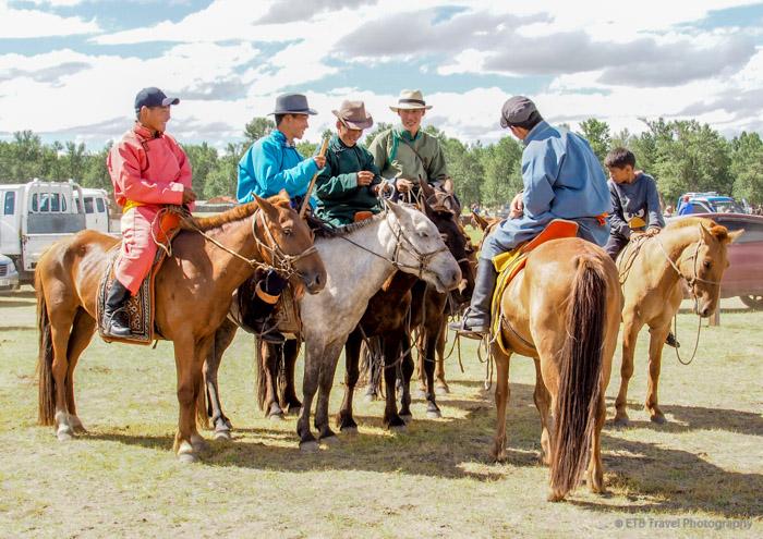 mongolian cowboys at Naadam