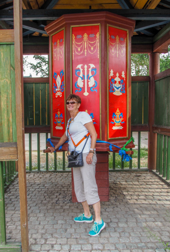 Page at Gandan Khiid in Mongolia