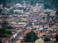 view of Easter procession from Cerro de la Cruz