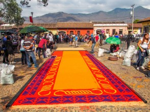 carpet in production at La Merced