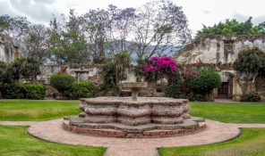fountain at Hermitage and School of San Jerónimo