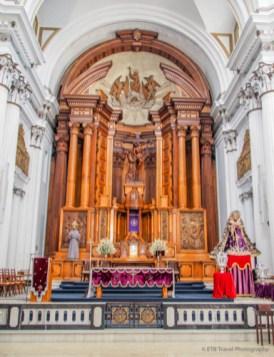 Altar Inside Iglesia San Francisco