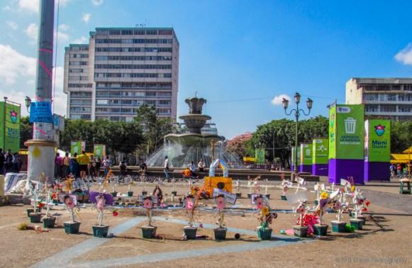 fountain at Plaza de la Constitución