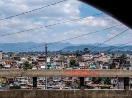 View of guatemala city from hotel balcony