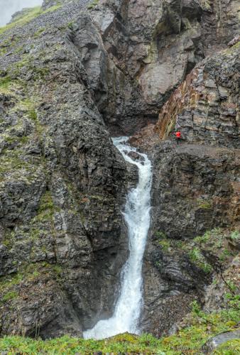 Bojan by the waterfall