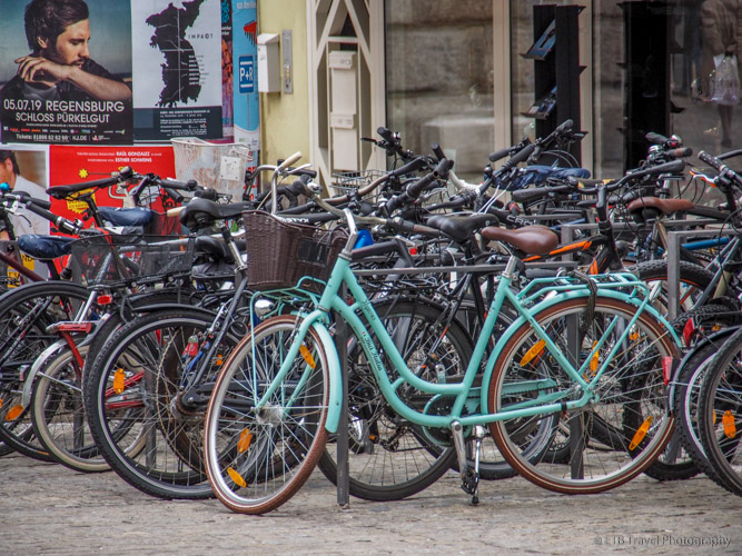 Bicycles in Regensburg
