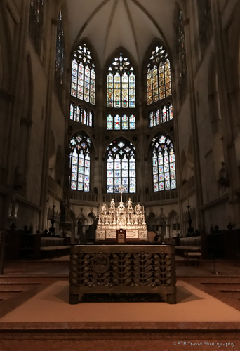 Stain glass windows in Regensburg Cathedral
