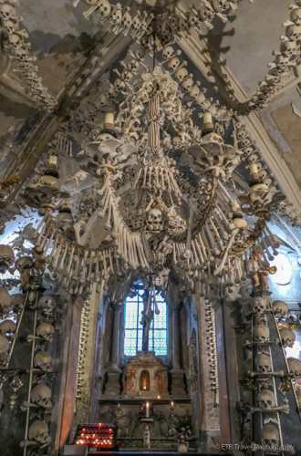 Chandelier in Sedlec Ossuary