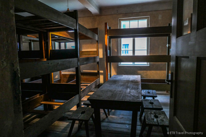 bunks in block 3 at Auschwitz