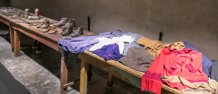 belongings from kanada at Auschwitz