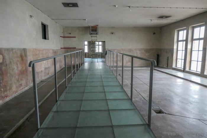 shower room at Auschwitz