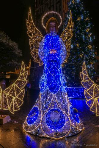 Christmas lights in Krakow's Old Town
