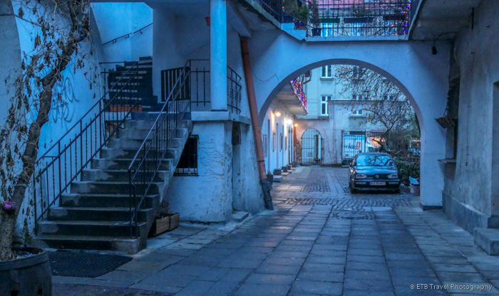 a place where Schindler's list was filmed in Krakow's Jewish Quarter