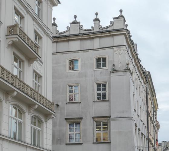 fake window in Krakow's Old Town