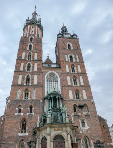 St. Mary's Basilica in Krakow's Old Town