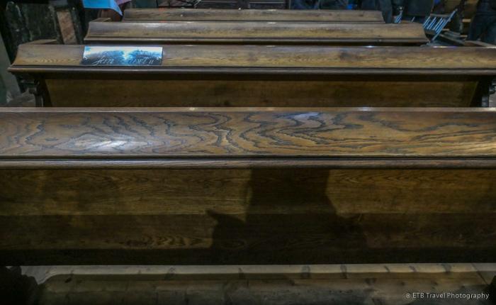 Pew where Pope John Paul II prayed