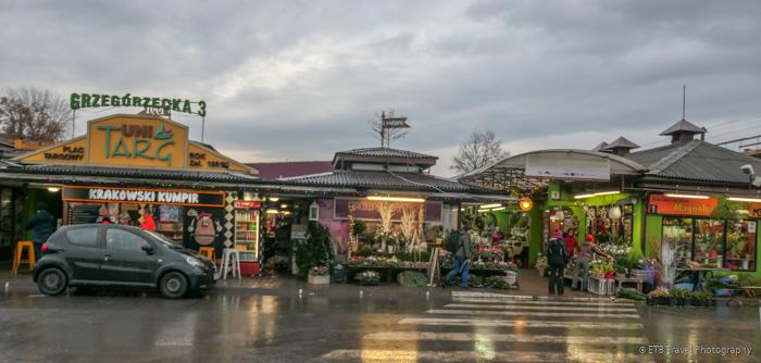 market outside Krakow's Old Town