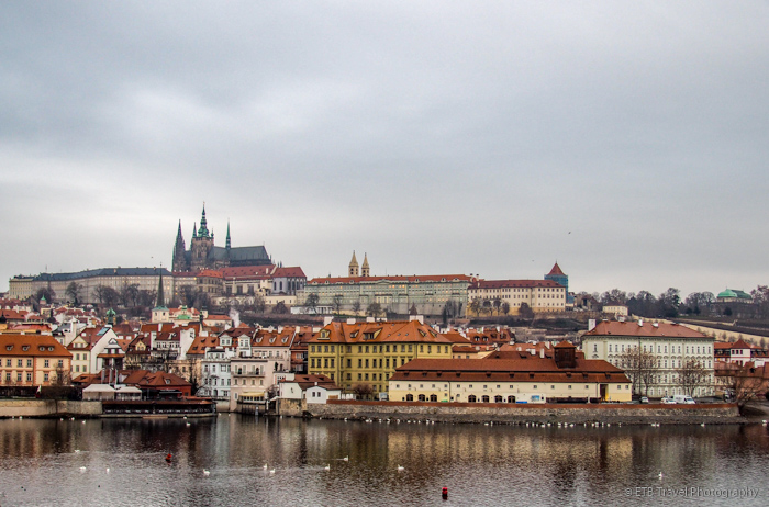 View of Prague Castle from bridge